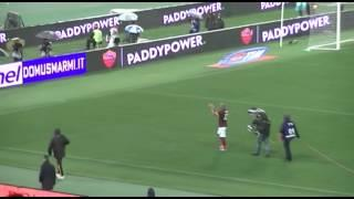 Roma-Inter, Maicon saluta i tifosi dell'Inter!