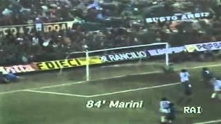 10/02/1985 - Superbo gol di Marini, l'Inter batte la Lazio in Coppa